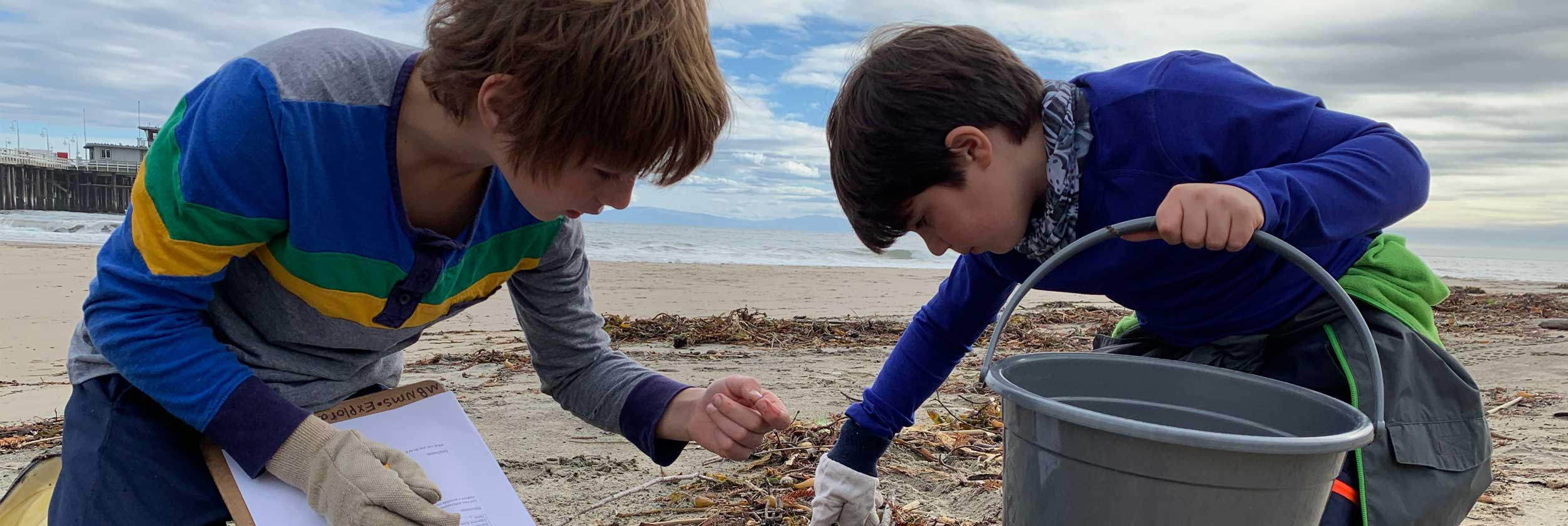 elementary beach cleanup