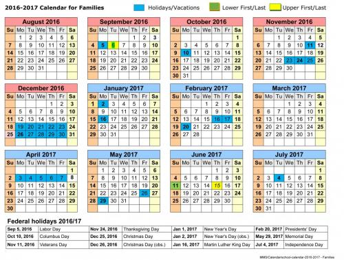 School Calendar Dates  Mount Madonna School