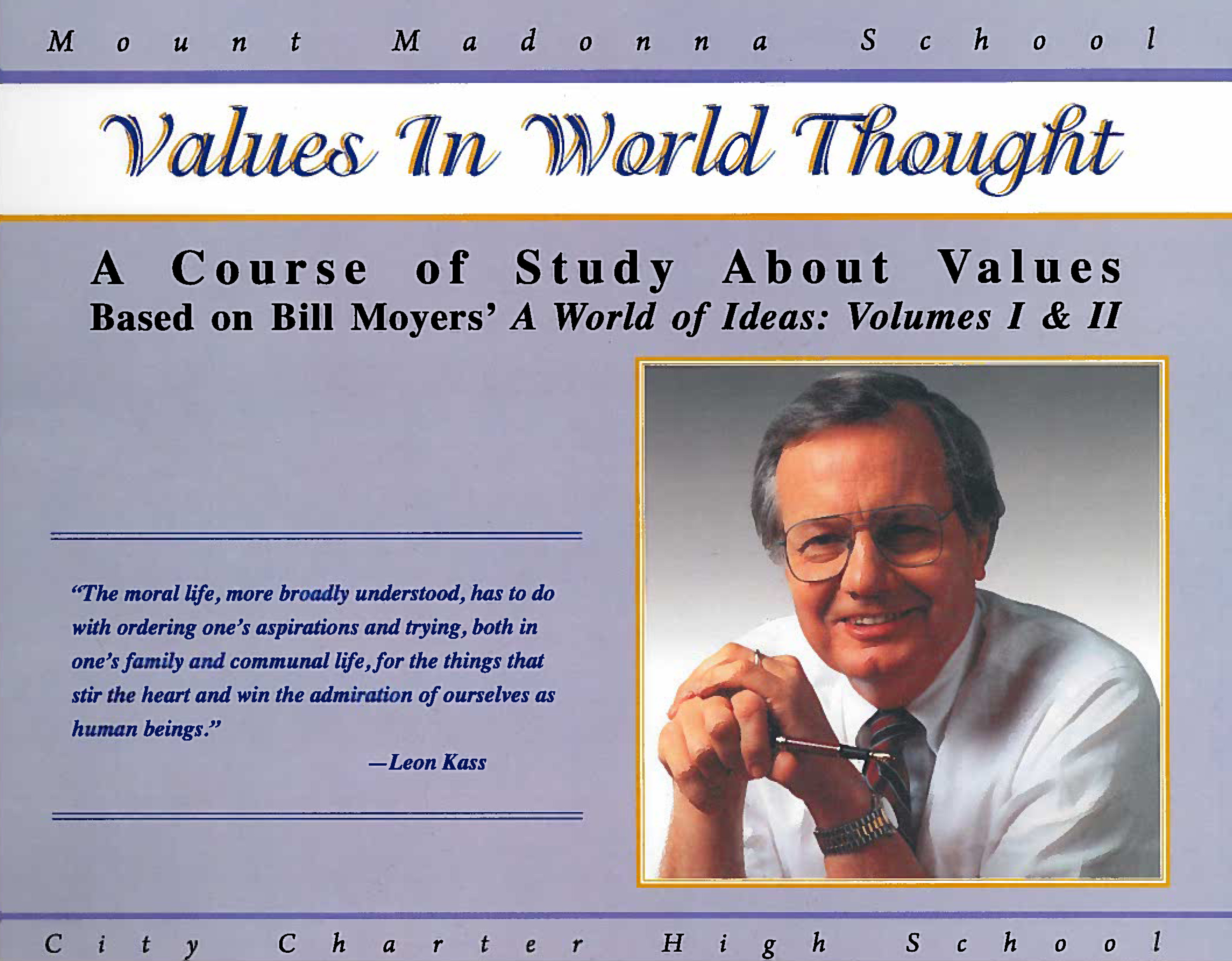Values in World Thought: A Course of Study About Values