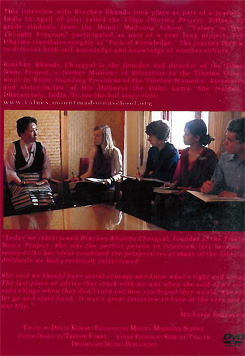 Vidya Dharma Project 2011: Interview with Rinchen Khando