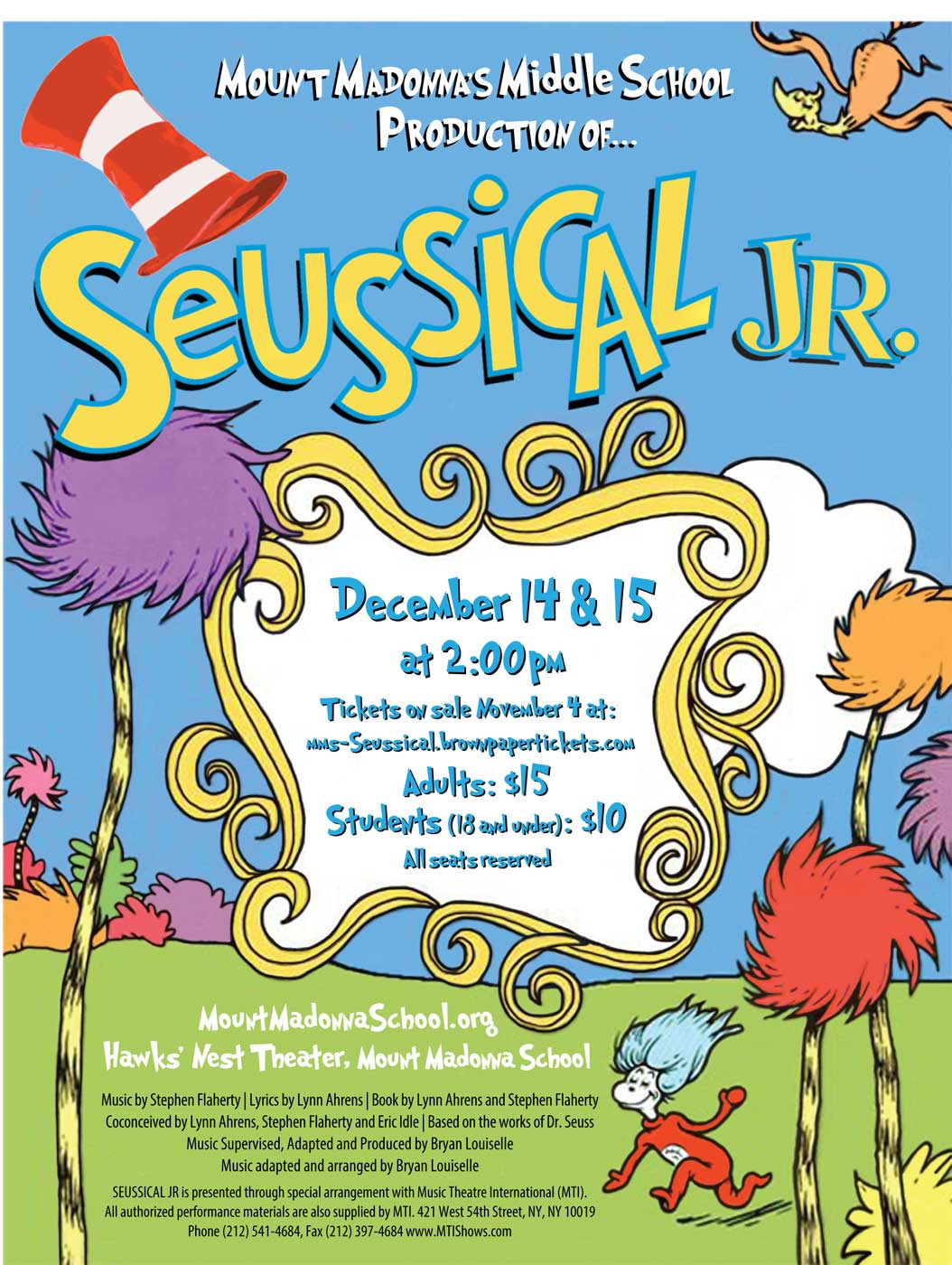 2019 Seussical! Video DVD or USB