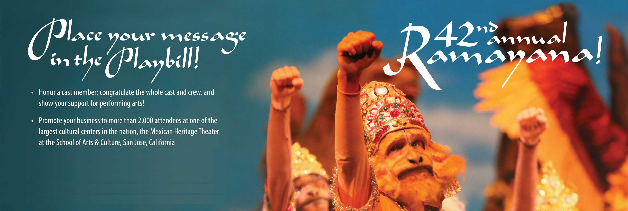42nd annual ramayana playbill advertising